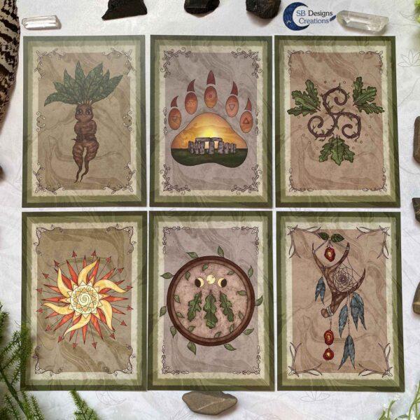 Druid Magick- Pagan Ansichtkaarten Set