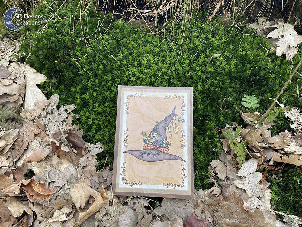 Heksenhoed-Heks-Art-Ansichtkaart-Witchy-Vibes