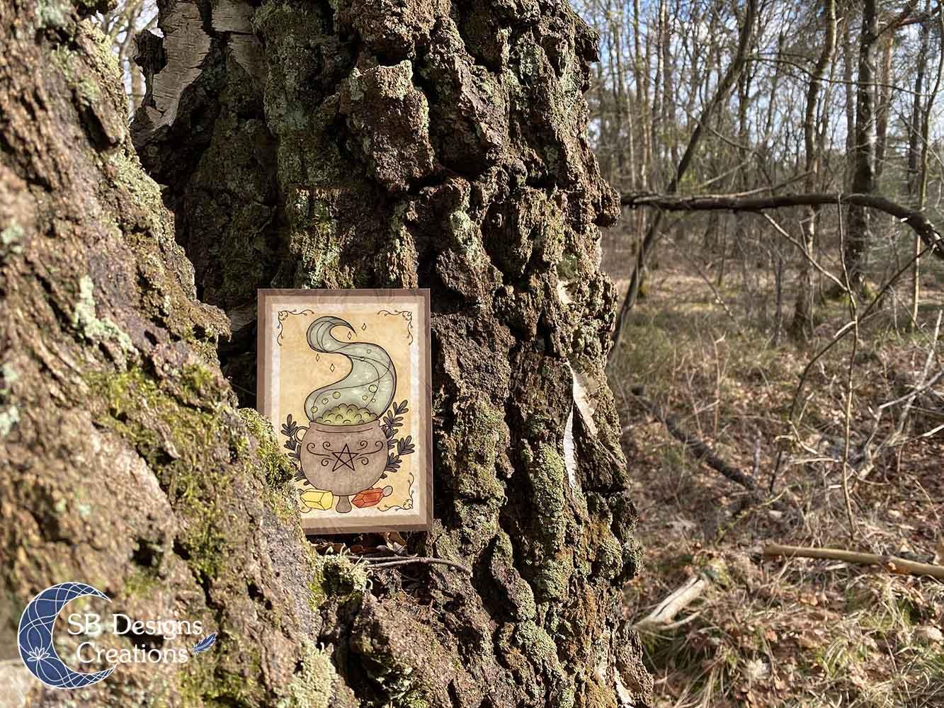 Heksenketel-Heks-Kunst-Artprint-Pagan-Art-Witch-Home