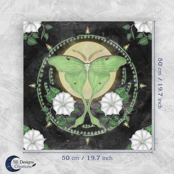 Luna Mot Altar Cloth Tarot Cloth Digital Preview