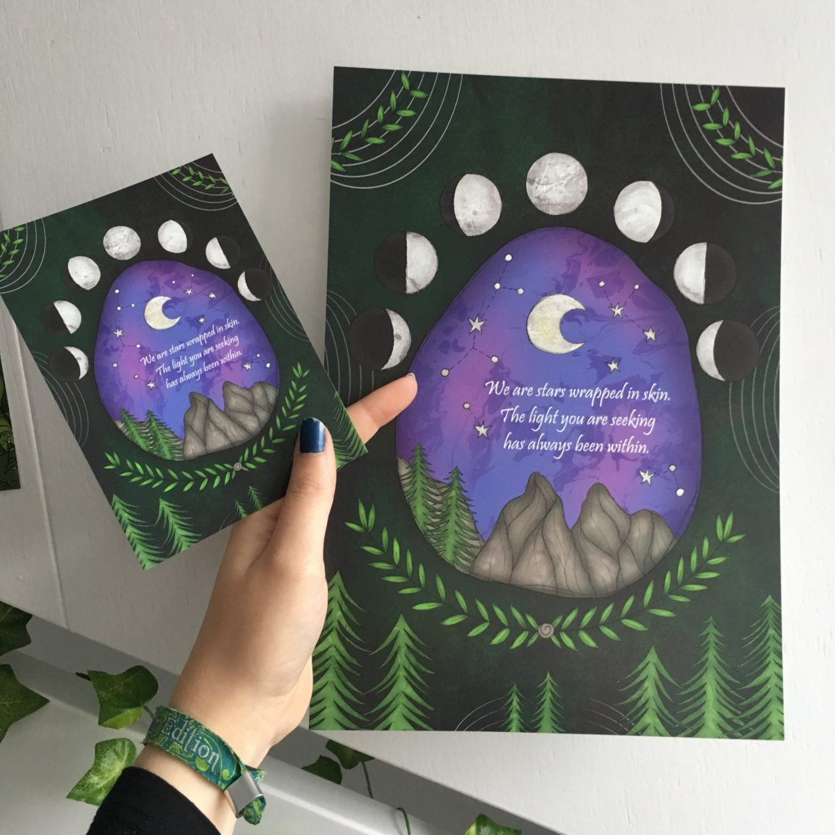 We-Are-Stars-Wrapped-In-Skin-Spiritual-Postcard-SB-Designs-Creations-Moon-Phases-Nature-e1550562053624