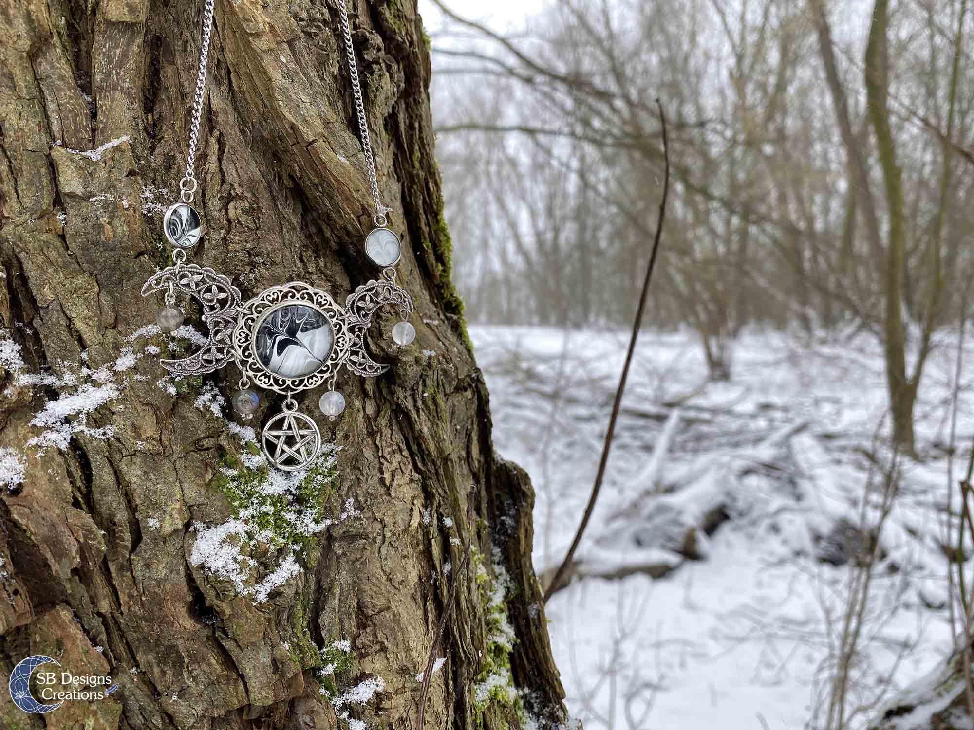drievoudige-maan-pentagram-ketting-pagan-heks